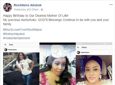 RockNana Abidiak Popular Female Nigerian Artiste Send Wishes To Her Aunty on Her Birthday
