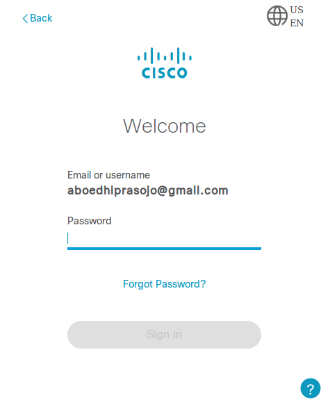 Login Cisco