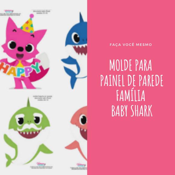 Molde Familia Baby Shark Para Imprimir Valdirene Oliveira