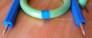 Making Pool Noodles into Hoops and Arches