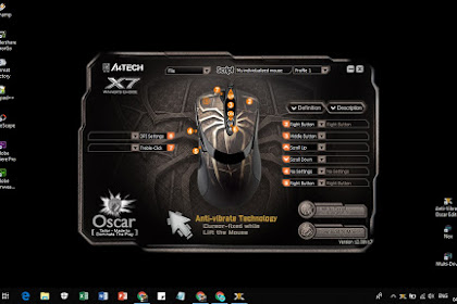 Cara Settings Mouse Macro X7 A4TECH