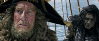 Geoffrey Rush and Javier Bardem in Pirates of the Caribbean: Dead Men Tell No Tales (6)