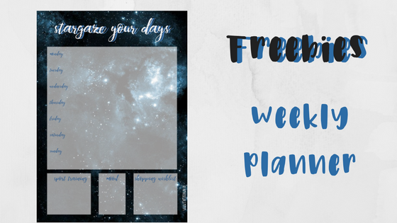 freebie, weekly planner, papertown, swissblogger, switzerland,
