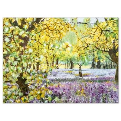 'Bluebell Woods' Painting by Caroline Van Rensburg