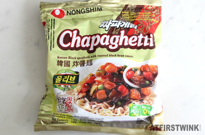 Nongshim Chapaghetti Korean black spaghetti with roasted black bean sauce