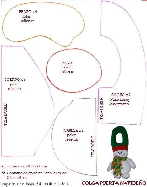 DIY - Decoração de Natal Com Feltro Super Fácil de Fazer Com Moldes 8
