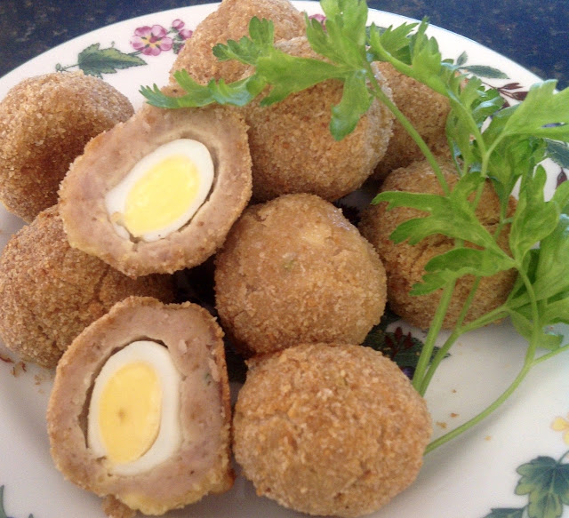 Oven Baked Quail Scotch Eggs