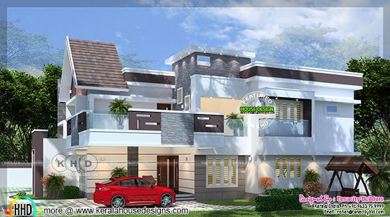 Fusion model villa type B rendering
