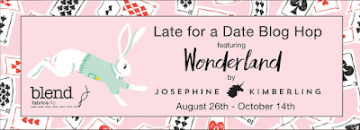 Late for a Date Blog Hop for Wonderland Fabrics (Blend Fabrics)