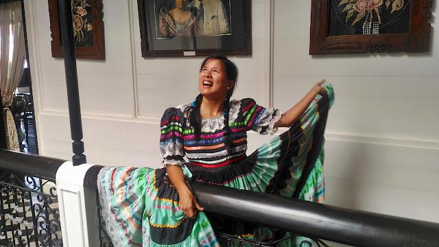 Karla Ramos goofing in Villa Escudero