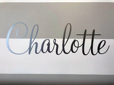 baby girl's name in vinyl, created by Grace Baxter