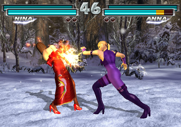 GG, Nina vs Anna, Nina and Anna, Nina Williams, Anna Williams, Tekken Tag Tournament, Tekken