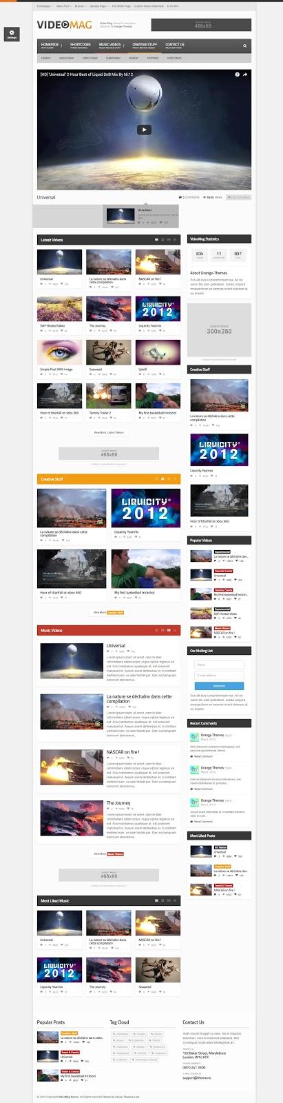 VideoMag-Premium WordPress theme for playing videos