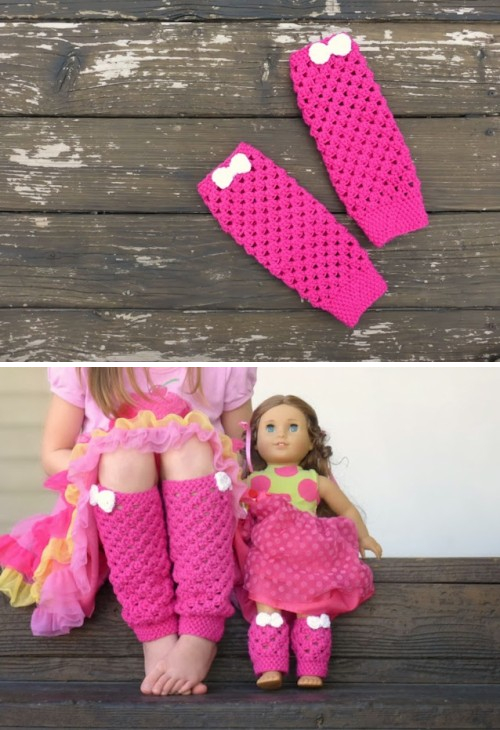 Girly Leg Warmers - Free Pattern