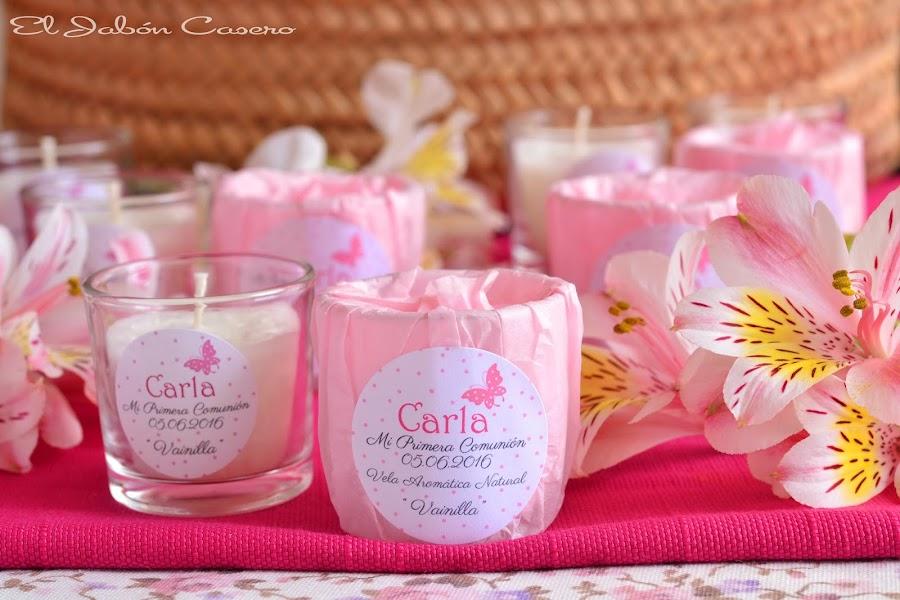 Recuerdos para bautizos velas perfumadas