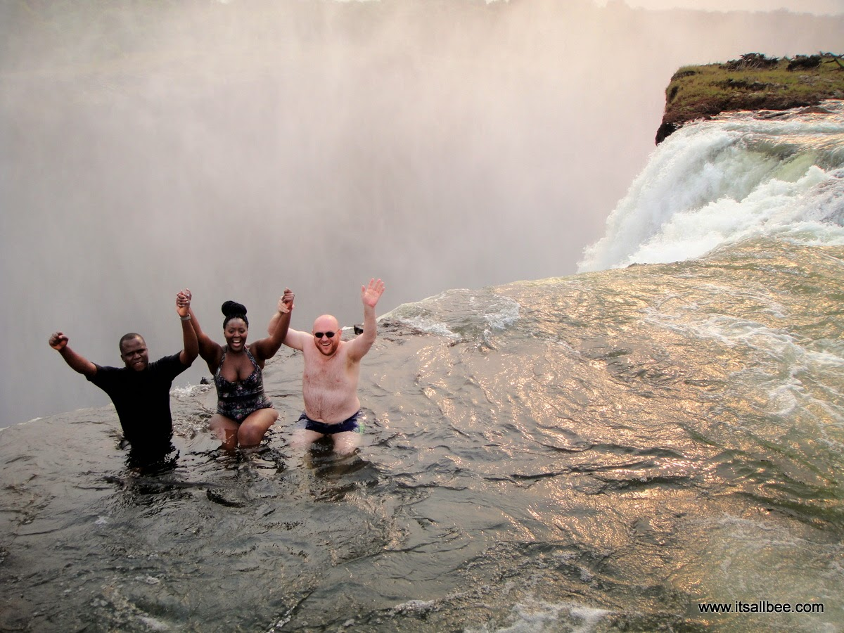 A Dip Into The Devil's Pool At Victoria Falls #itsallbee #traveltips #adventure #vicfalls #africa vacation
