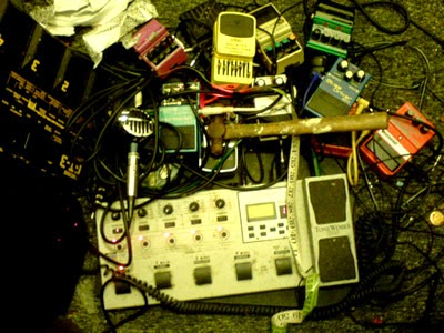 Broken guitar effects pedals