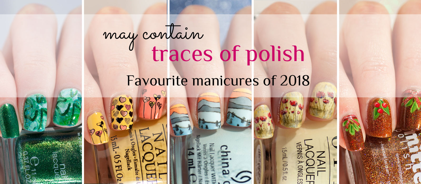 Collage - best manicures of 2018
