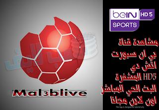 مشاهدة قناة بي ان سبورت اتش دي HD5 المشفرة البث الحي المباشر اون لاين مجانا Watch beIN Sports HD5 Live Online