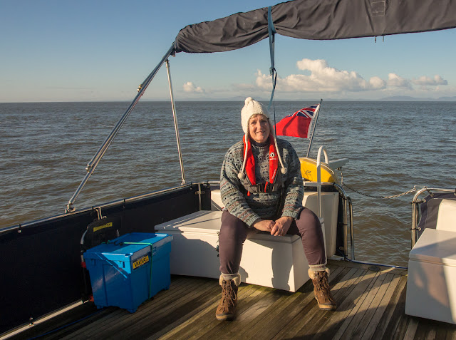 Photo of me on Ravensdale's aft deck on the Solway Firth