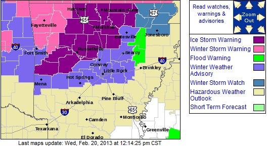 I 40 Arkansas Map.Winter Storm Timeline