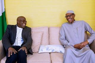 Tinubu Visits Buhari In UK