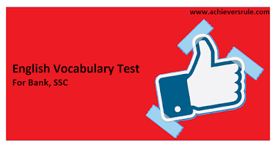 Test of English Word Power for IBPS PO - Set 9