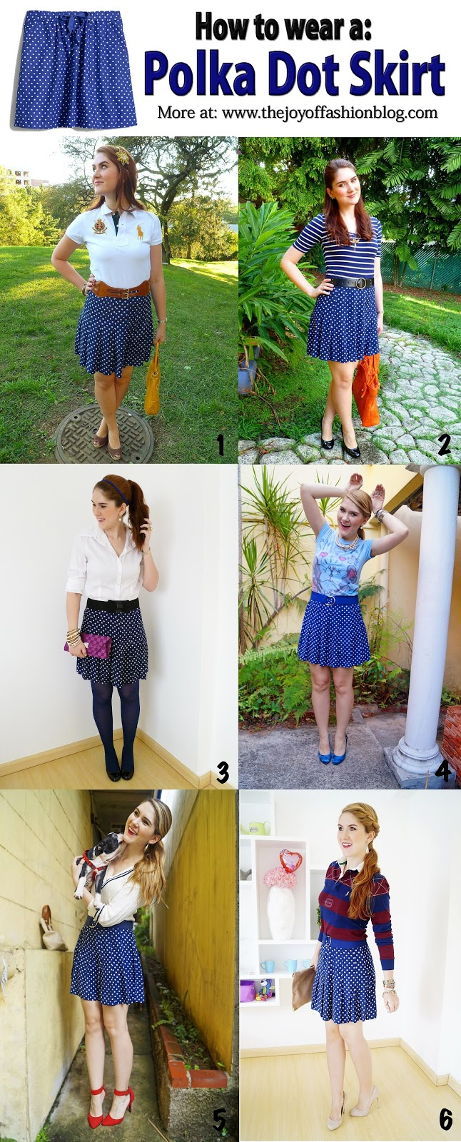 How To Wear a Polka Dot Skirt