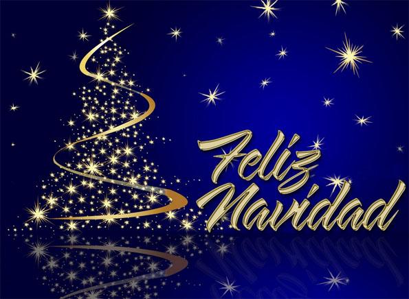 imagenes feliz navidad whatsapp con brillos dorados y fondo azul