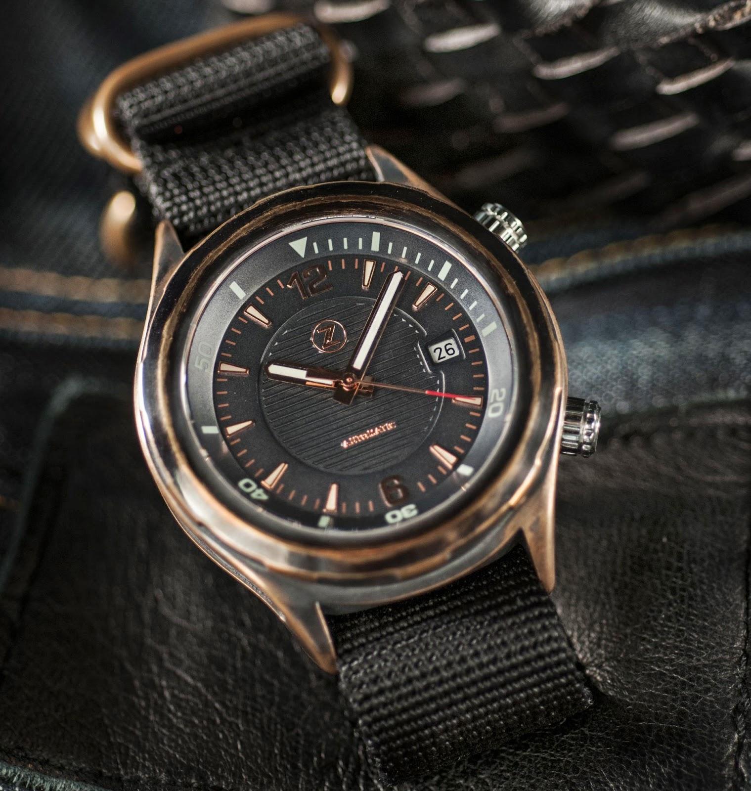 Zelos Helmsman bronze watch