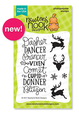 Holiday Reveals - Day 3 - Reindeer Roll Call 3x4 Stamp set by Newton's Nook Designs #newtonsnook