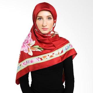 Jilbab Elzatta Warna Merah Kombinasi