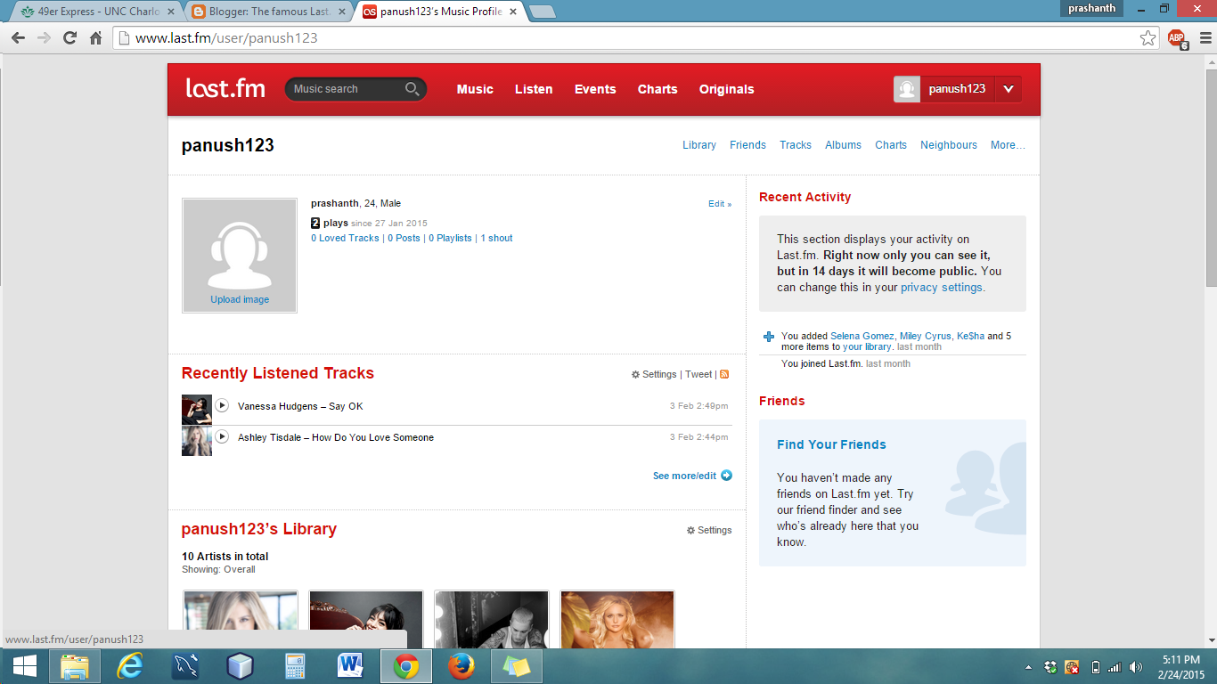 The famous Last FM (recommender system)