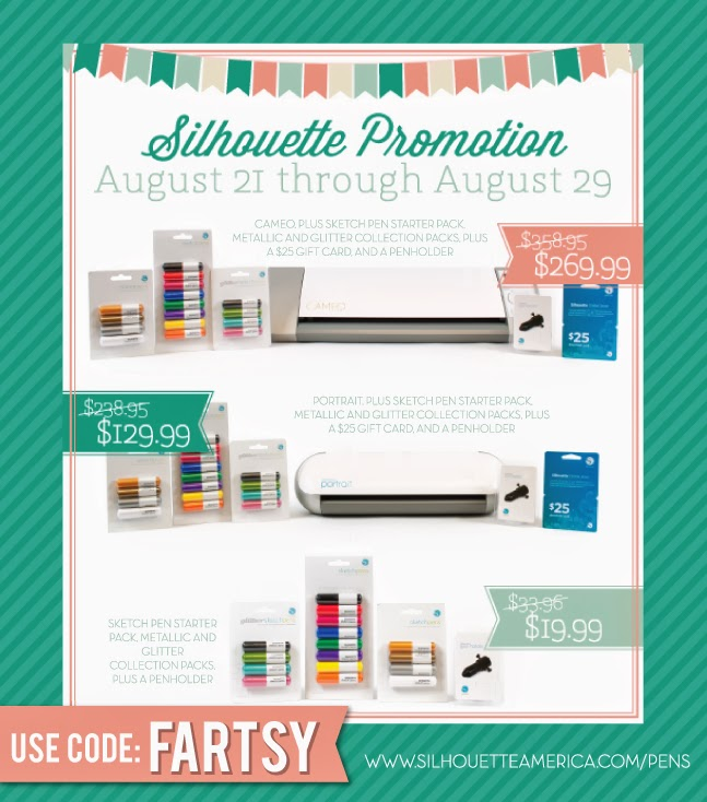 Silhouette Sketch Pen Promotion August 21-29 #Silhouette #SilhouetteSketchPens