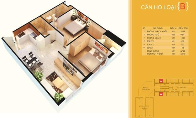 Thiết kế căn hộ ĐẠT GIA CENTRE POINT - RESIDENCE THỦ ĐỨC