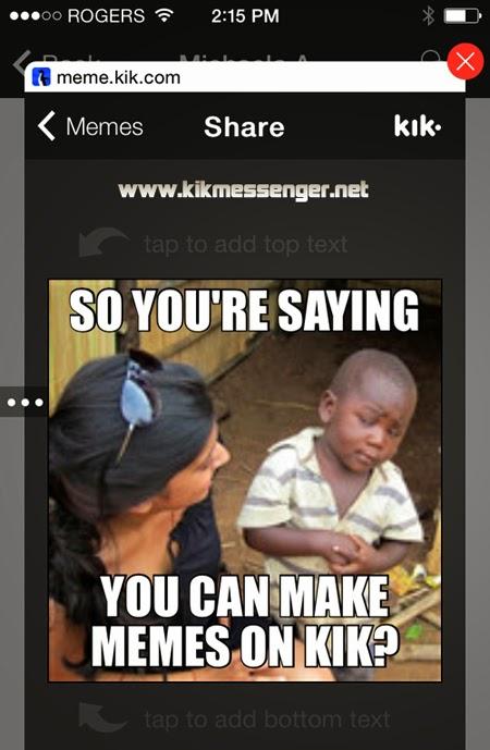 Crea memes con tus fotos o imágenes desde Kik