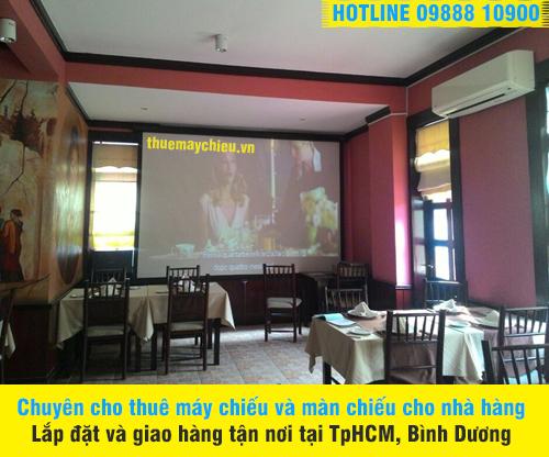 Cho thuê Máy chiếu, màn chiếu nhà hàng Ý tại quận 2 TpHCM