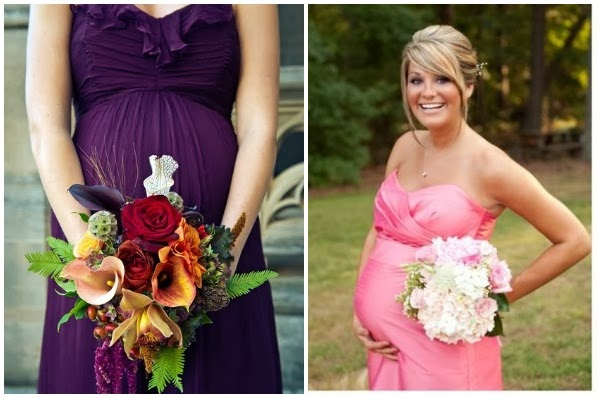 maternity bridesmaids