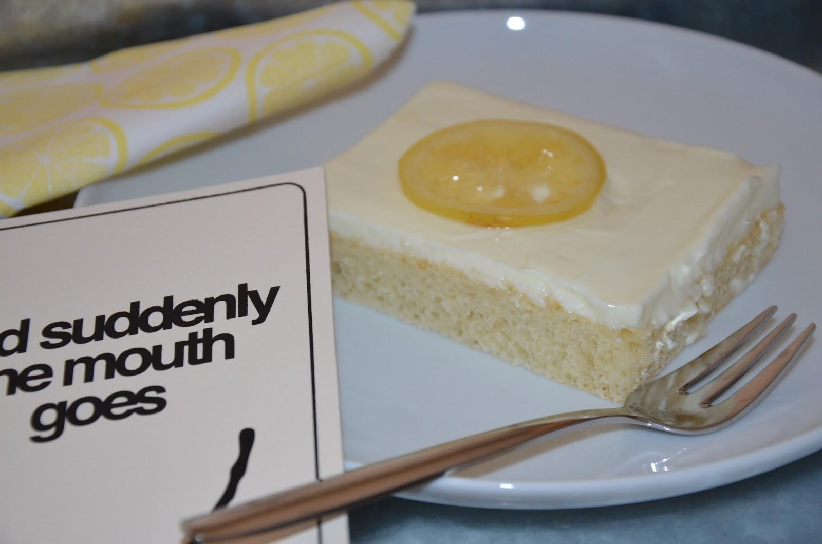 Zitronen Buttermilchkuchen Mit Kandierten Zitronen Rezeptra Food