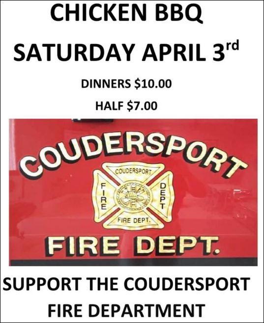 4-3 Coudersport VFD Chicken BBQ