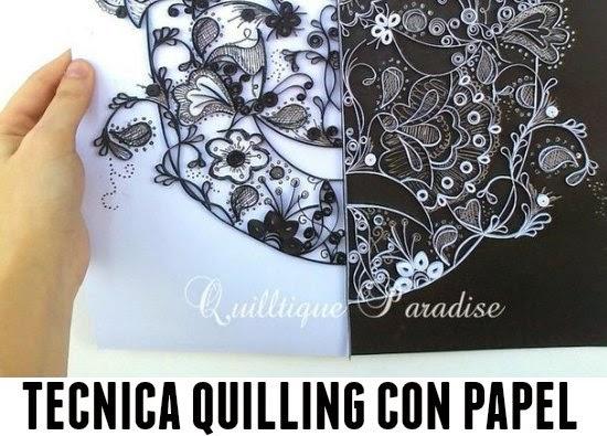 Tecnica del Quilling. Trabajando el Papel