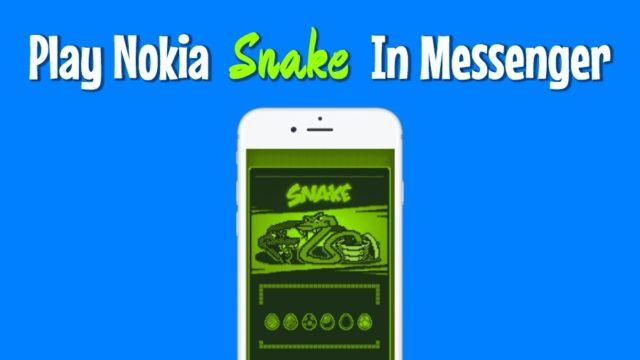 Cómo jugar el célebre Snake de Nokia en Facebook Messenger