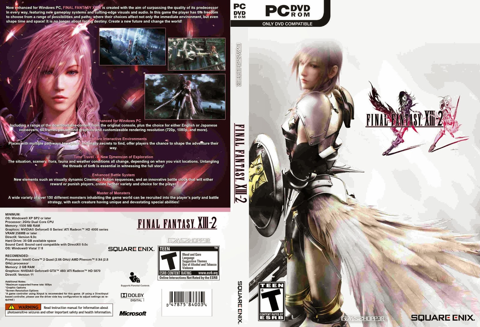 Capas Brasil Grátis 3: Final Fantasy XIII-2 - Cover PC Game