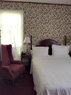 historic guest room at the Rangeley Inn