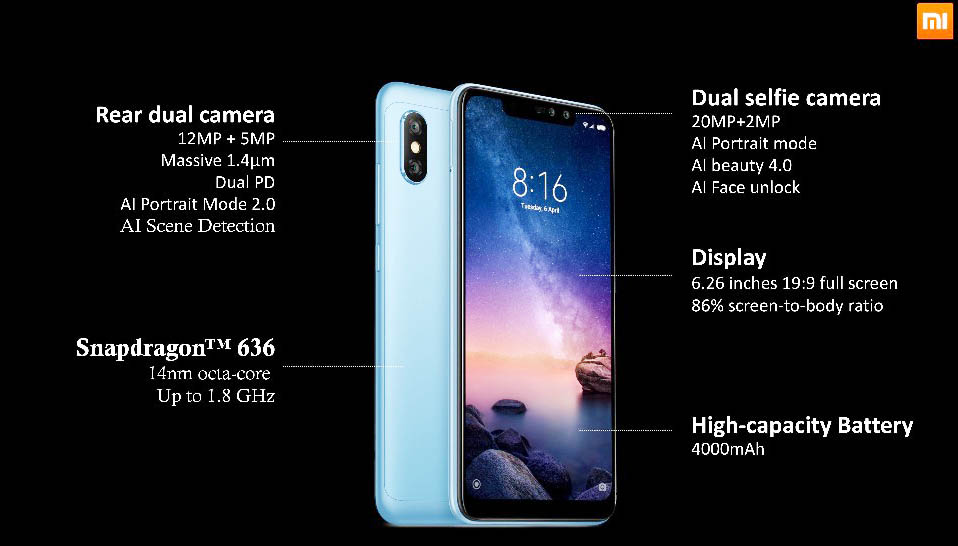 fe3351624 Xiaomi Redmi Note 6 Pro full specifications and short review ~ Toop ...