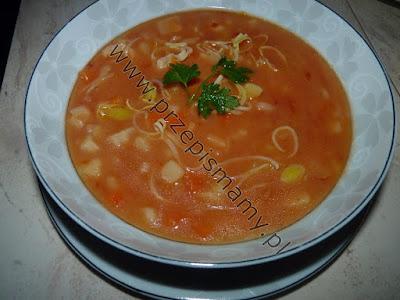Zupa ziemniaczana z koncentratem pomidorowym