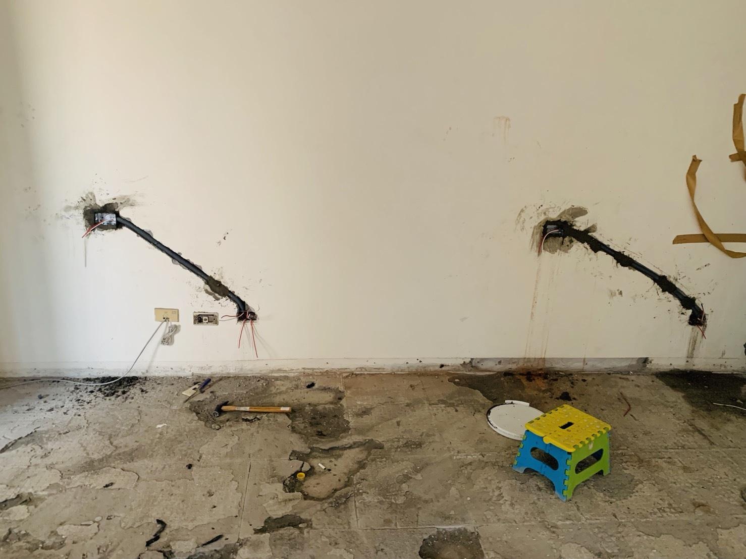 水電工程-沙發後面插座