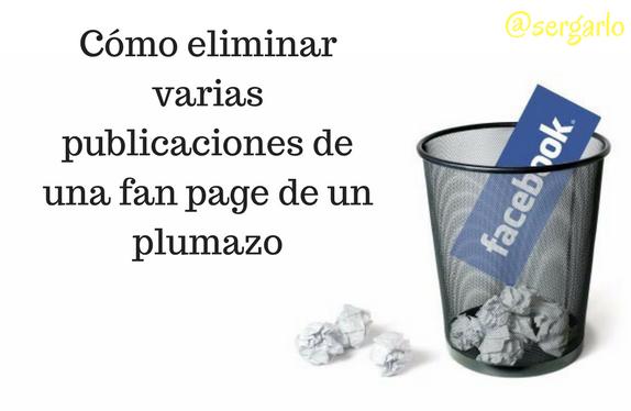 redes sociales, fan page, publicaciones, social media, Eliminar,