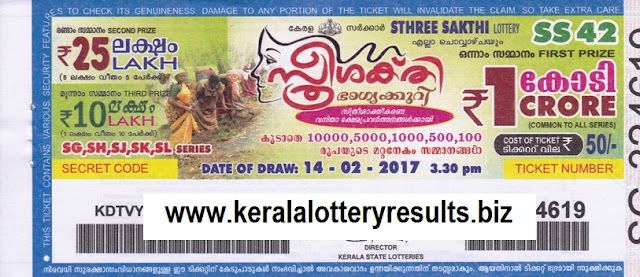 Results of lottery Sthree sakthi 20