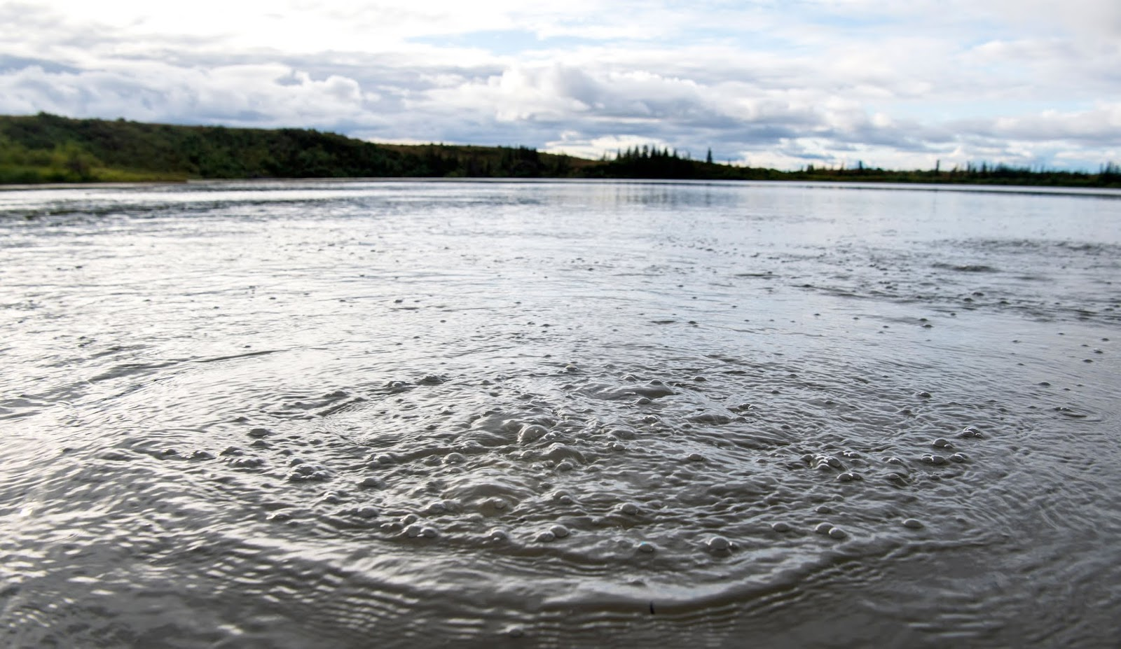 across the arctic lakes are leaking dangerous greenhouse gases